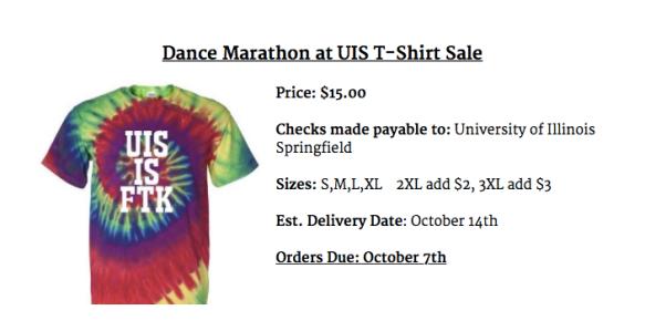 Dance Marathon at UIS T-Shirt Fundraiser